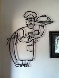 Metal chef wall decor. Great piece in the kitchen. | Decor ...
