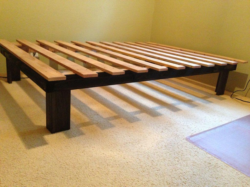 Cheap easy low waste platform bed plans diy platform bed frameplatform