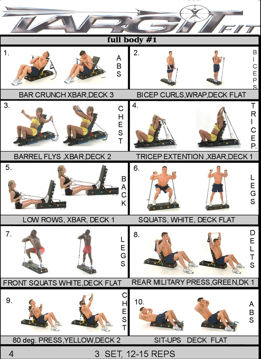 Gym Workout Chart For Chest For Men Full Body 1 Workout Chart Health Spa 43 Fitness Club