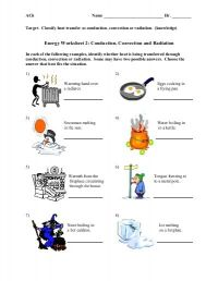 Conduction Convection Radiation Worksheet   Conduction ...