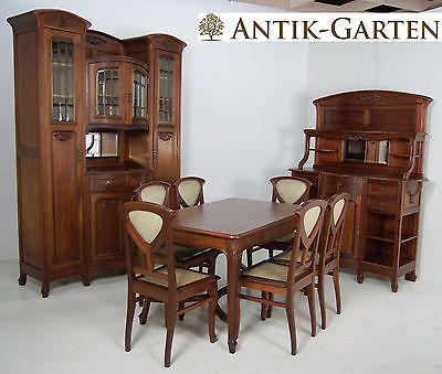 ANTIK! Esszimmer Komplett Jugendstil Mahagoni Art Nouveau   Esszimmer 1920