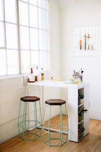 mini bar kitchen table with 2 stools | Kitchen Table ...
