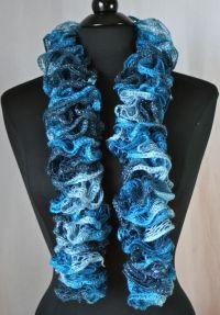 Knots-n-Knits: Crocheted Ruffled Scarves - Sashay vs ...
