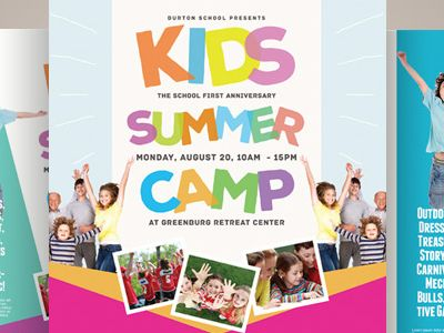 121-creative-market-kids-summer-camp-flyer-templates-kinzishots - camp flyer template
