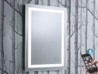 Encore Illuminated Bluetooth Bathroom Mirror with Speakers ...