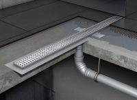 Water drainage for wet floor showers using ACO shower ...