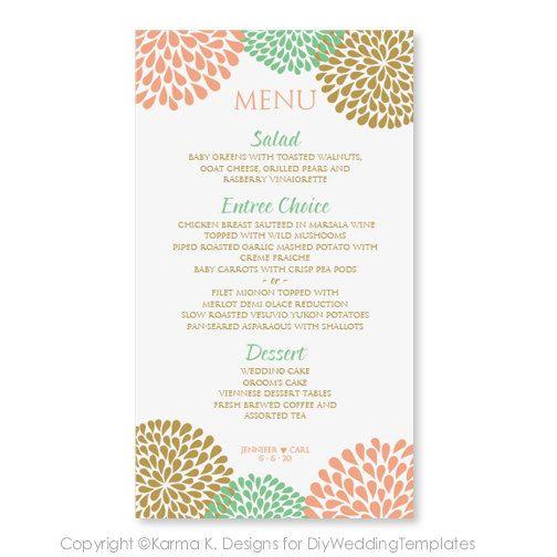 Wedding menu templates!! FREE!! loveHappily EVERafter - free menu templates for microsoft word