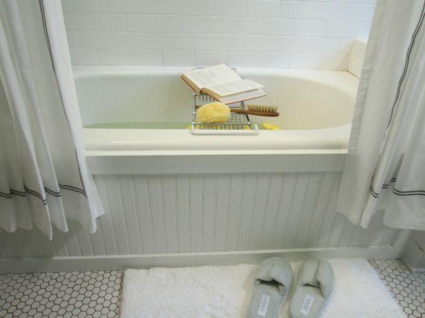 Update a Bathtub Surround Using Beadboard Tubs, Bathtubs and Beads - beadboard bathroom ideas