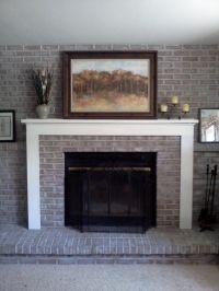 painted brick fireplace | Painted Brick Fireplace Remodel ...