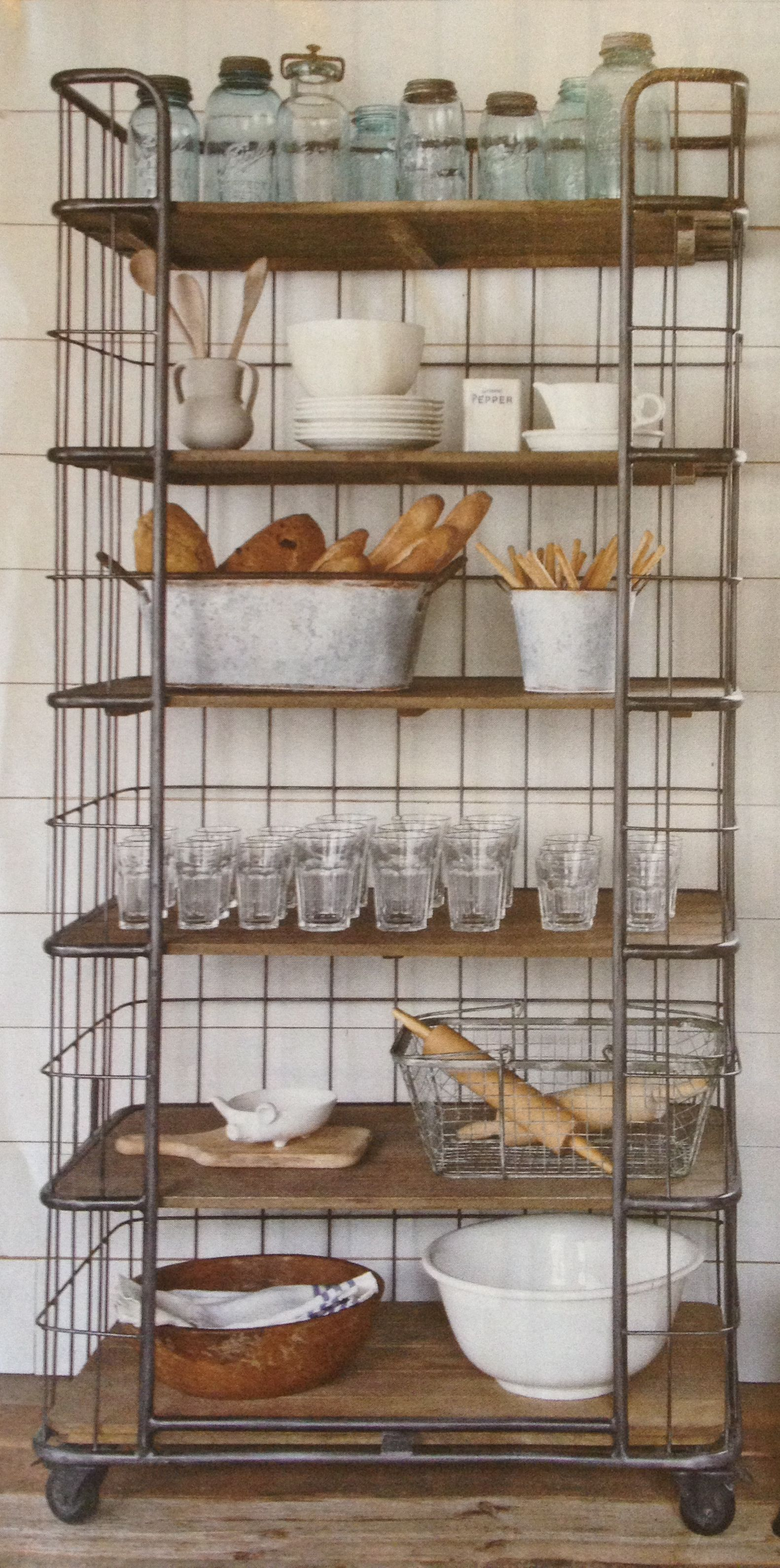 Decorative Industrial Shelving Rangement Industriel Kitchen And Dining Room Pinterest