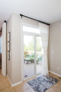 White Sliding Glass Door Curtain Shade | Blinds curtains ...
