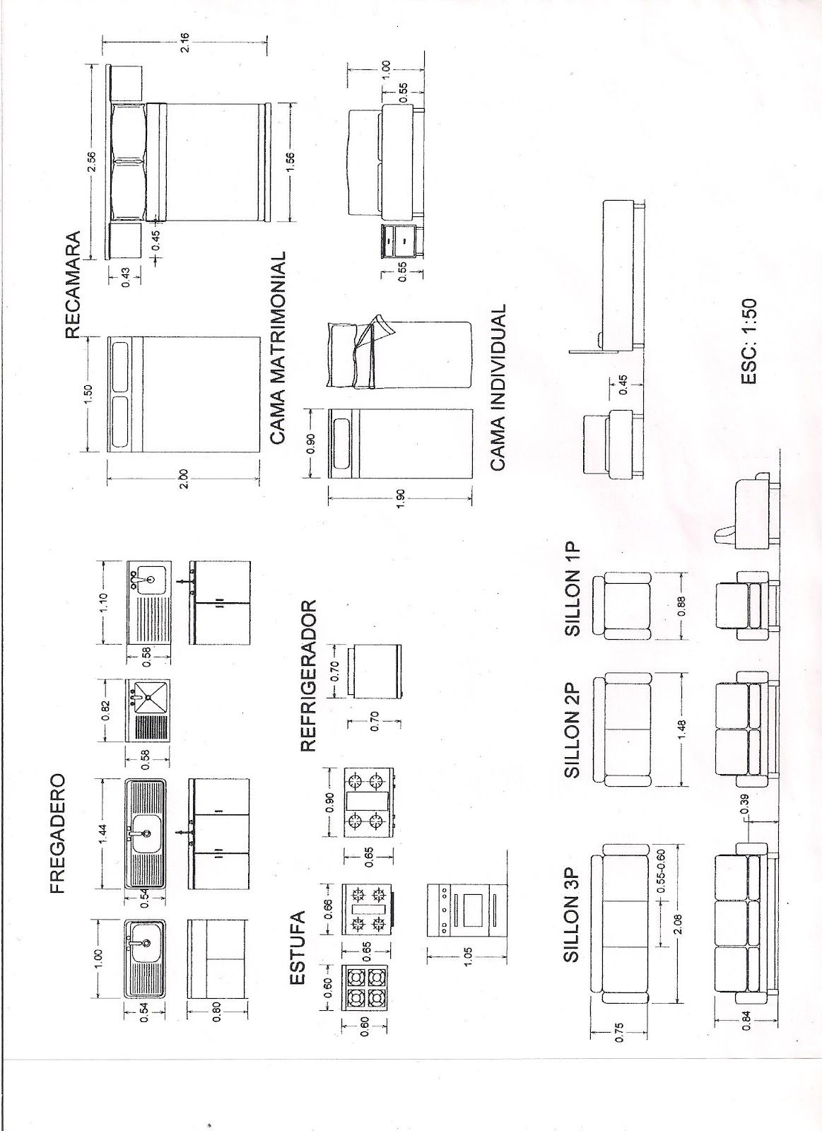 Dimensiones De Mobiliario De Cocina Indicate Glass Wall On A Floor Plan