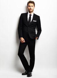 Black Suit For Black Tie Dress Yy