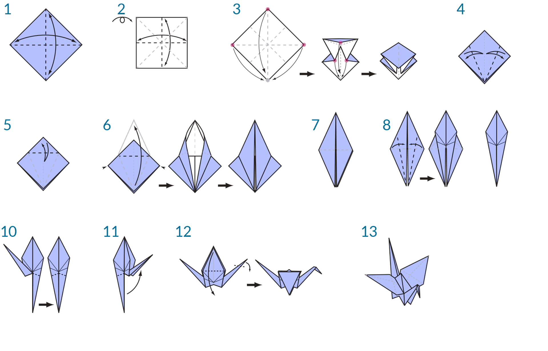 Origami crane instructions origami swan step by step