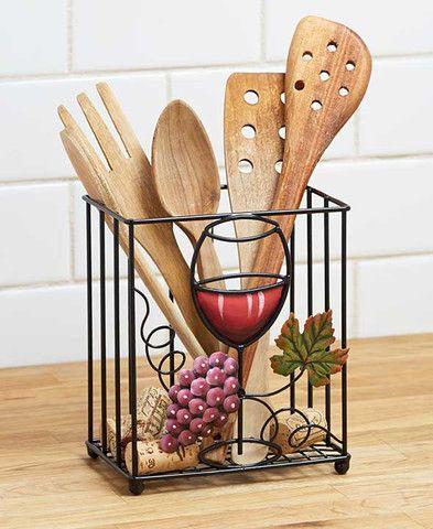 Wine Themed Kitchen Storage Racks Holders Tuscan Grape Decor - wine themed kitchen ideas