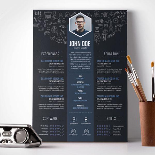 free_resume_template_8jpg (600×600) Personal CI Pinterest - creative resumes templates