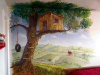 tree house mural | Tree house wall murals decorating ideas ...