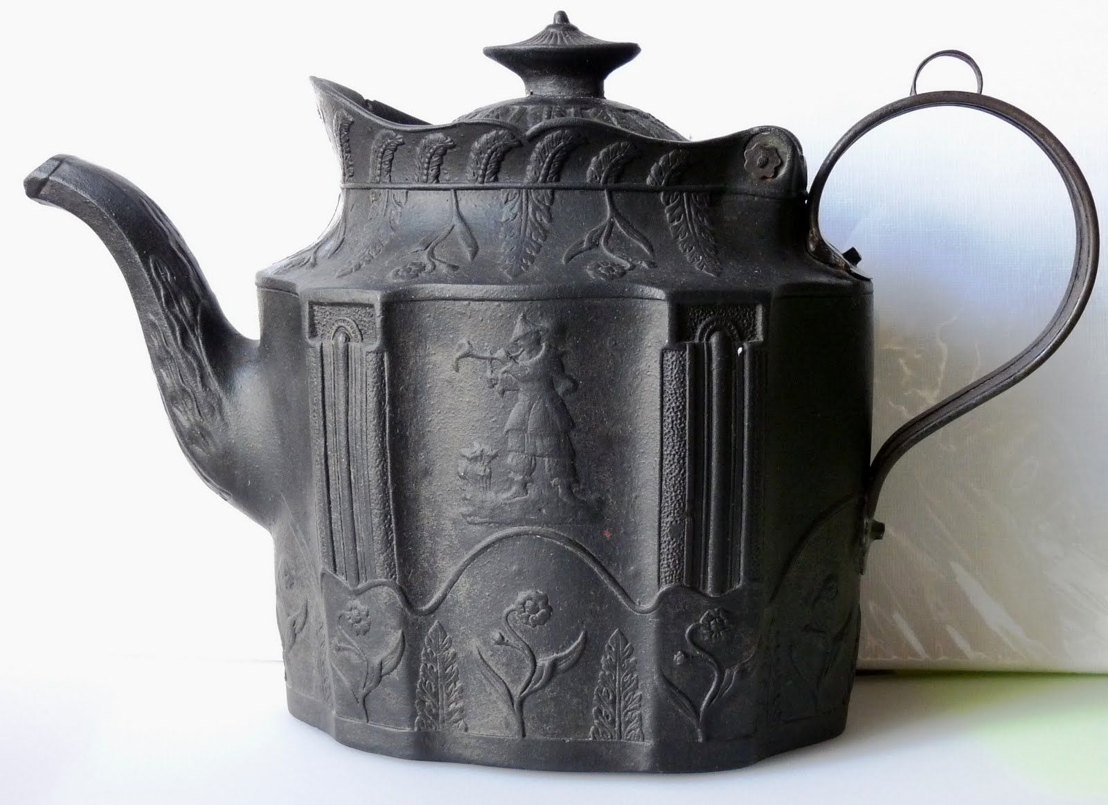 Beautiful Teapot Beautiful Antique Basalt Teapot Made In England C1800