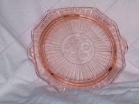 Depression Glass Cake Plate. Mayfair Open Rose Pink ...
