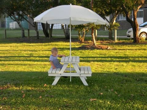 Kid39s Timber Picnic Table Quotminiquot Kids Outdoor
