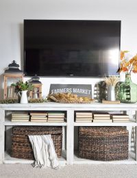 Image result for tv console fall decor | HOME - TV stand ...