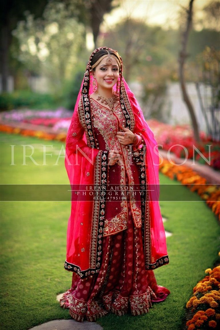 wedding dresses with red 51 Inspirational Red Pakistani Bridal Outfits by Irfan Ahson Photography
