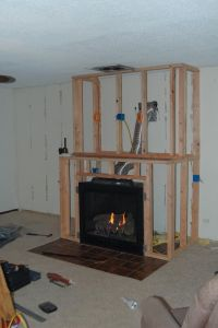 DIY Gas Fireplace Surround | Fireplace | Pinterest ...