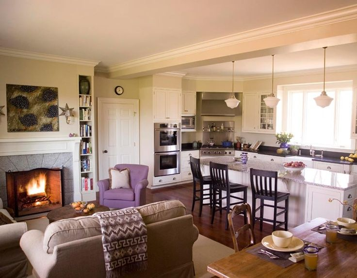 Open-Concept Kitchen Living Room Designs kitchen design - open concept kitchen ideas