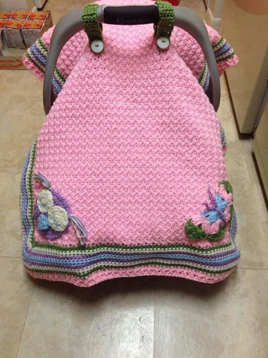 Car Seat Covers For Babies Patterns Pink Car Seat Cover Crochet Pinterest Cars Pink And
