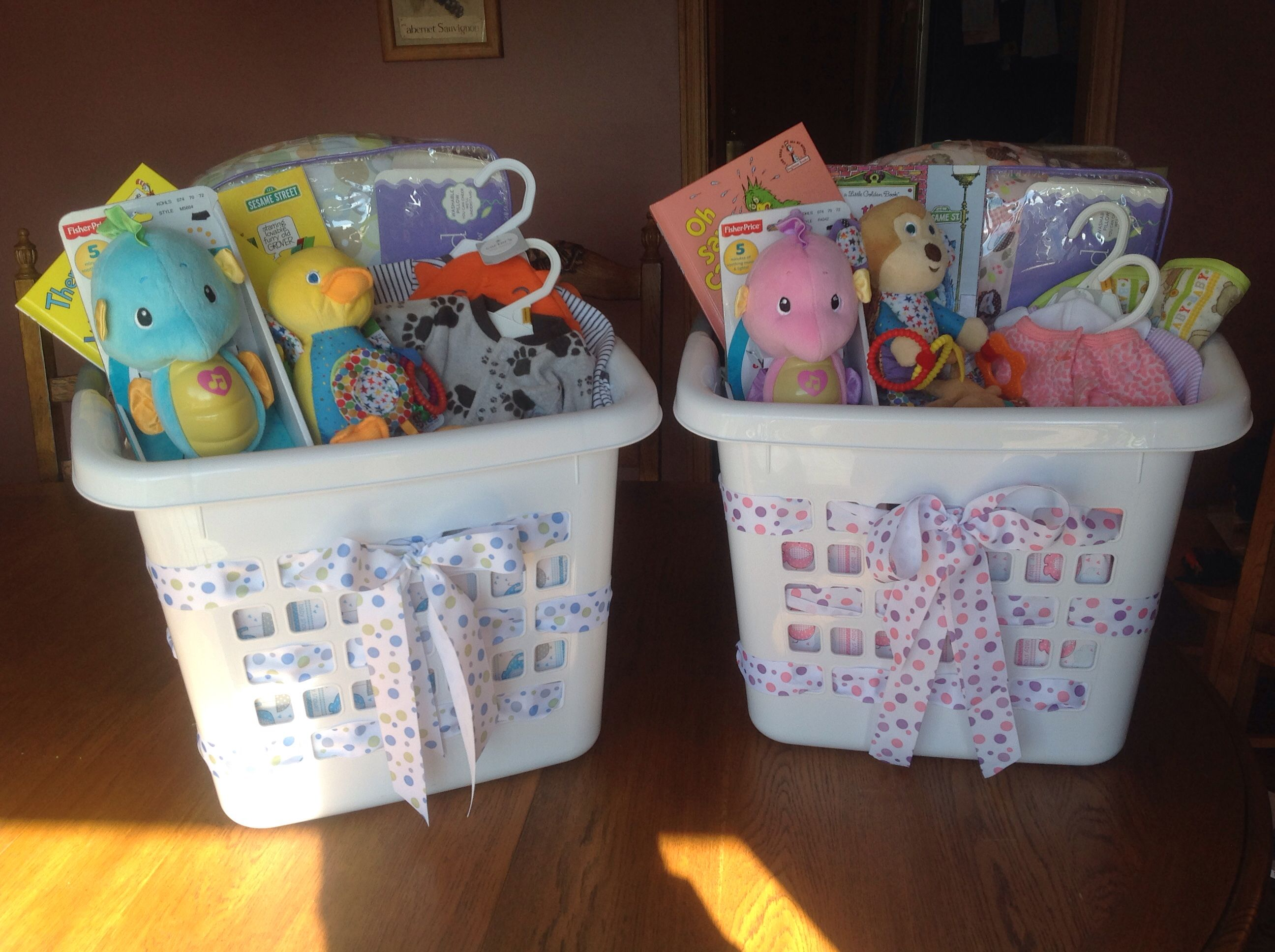 Baby Laundry Basket Gift Use Laundry Basket As Quotgift Bag Quot For Baby Shower Gifts I