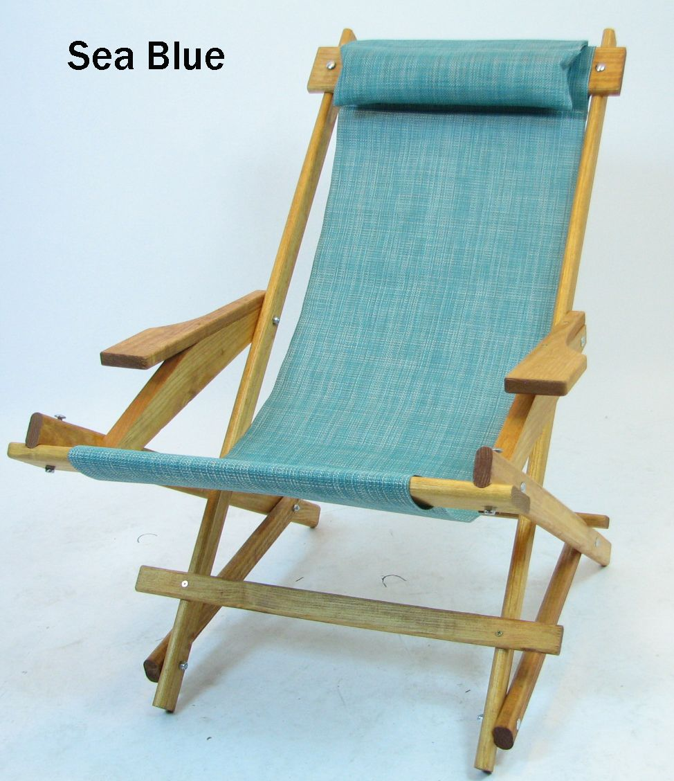 Wooden folding rocking chair sling