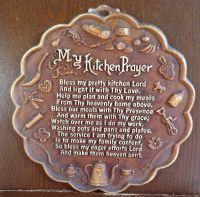 Vintage - MY KITCHEN PRAYER - Plaque, Wall Hanging ...
