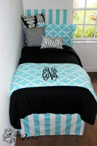 Tiffany Blue Designer Dorm Bedding Set | Girl dorms, Bed ...