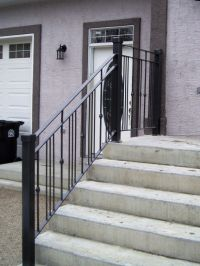 Modern Exterior Simple Railing for Front Entrance With ...