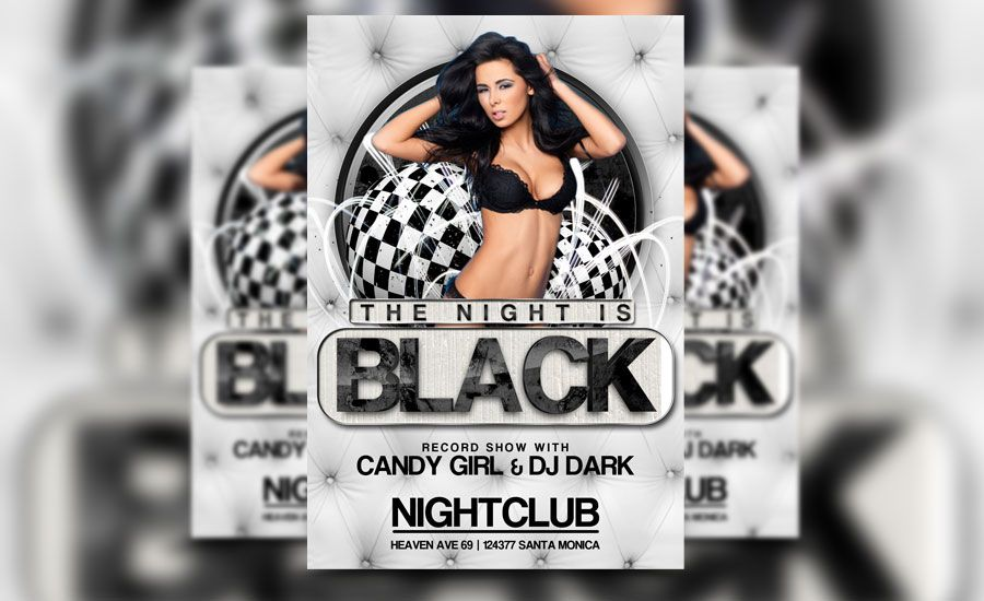 Check out our newest black night flyer template! http - black and white flyer template