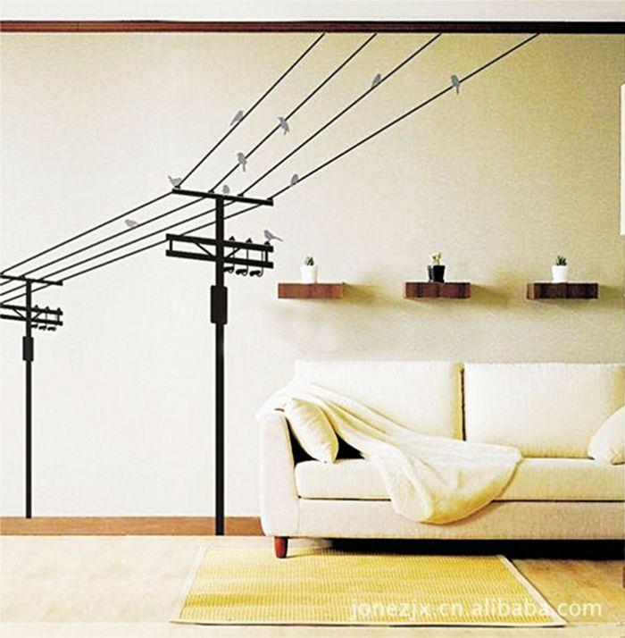 Deko Ideen Wandgestaltung - Wohndesign