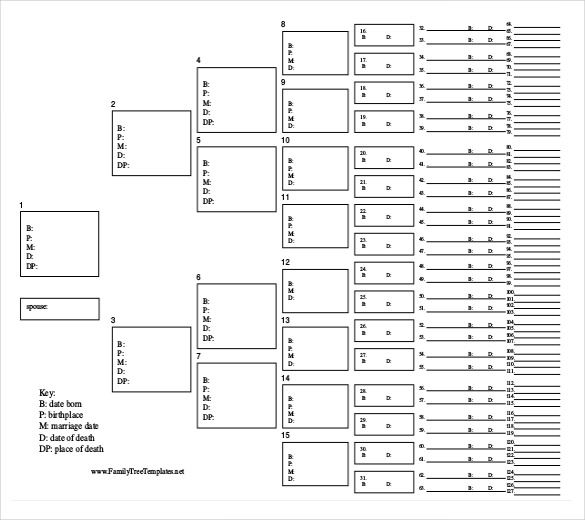 Family Tree Template - 31+ Free Printable Word, Excel, PDF, PSD - family tree chart template