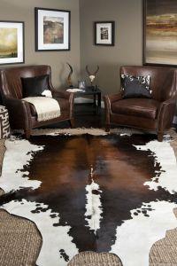 Interior, Decor Ideas, Area Rugs, Cowhide Rug Decor Living ...