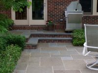 Bluestone Patio and Steps with Brick Risers | deck ideas ...
