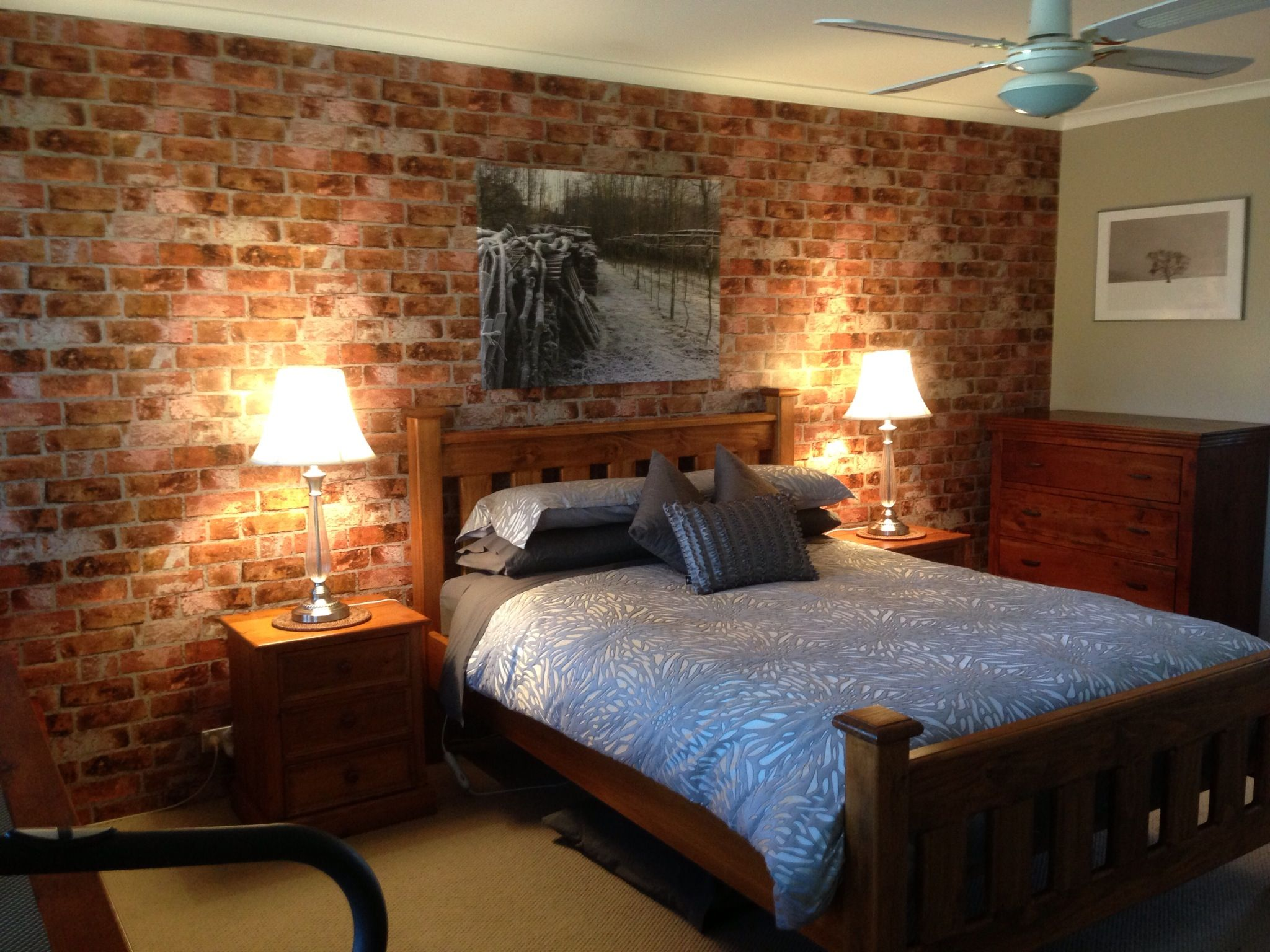 Wallpaper Accent Wall Bedroom Teaser Tuesday Brick Backsplash From Down Under Best