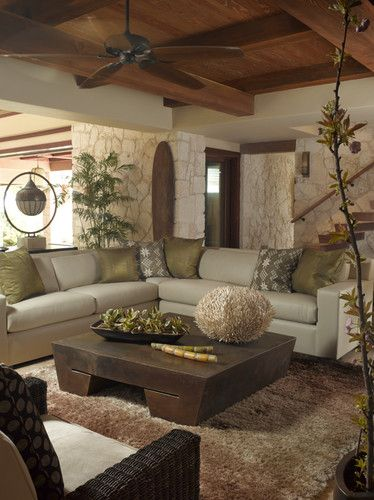 Tropical Living Photos Design, Pictures, Remodel, Decor and Ideas - tropical living room furniture