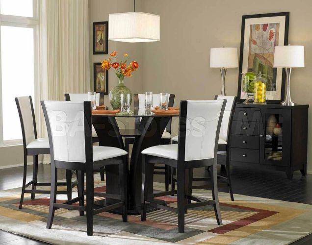 pub tables counter height kitchen table Daisy 7 PC Round Counter Height Set Table and 6 Chairs