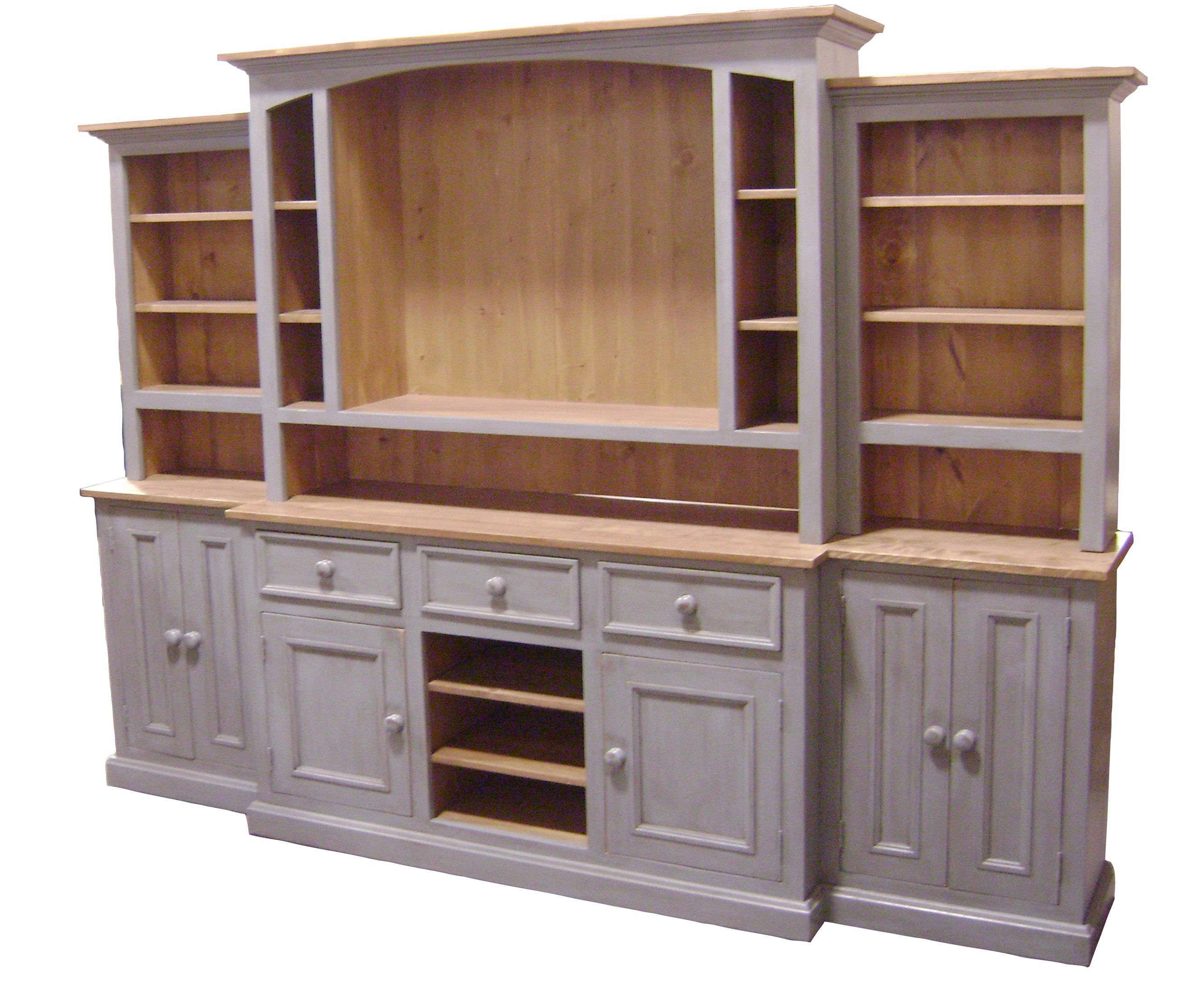 Wall Unit Wooden Coastal Grey This Beautiful Solid Wood Country French