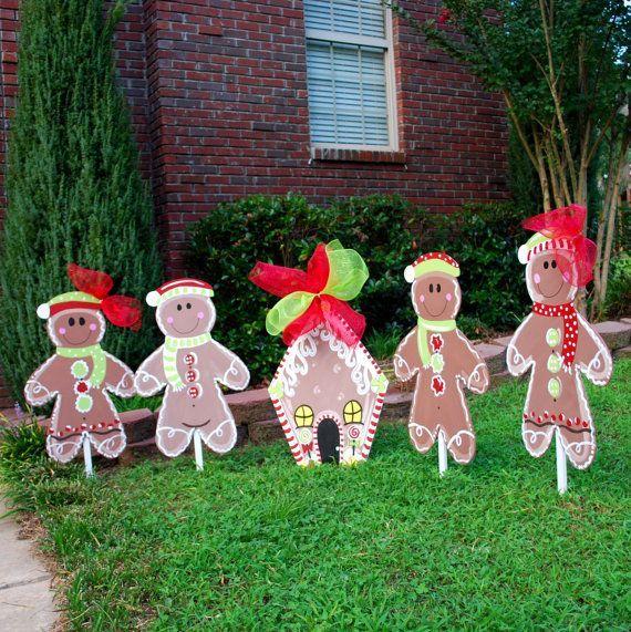 Holiday Lawn Decorations Christmas Yard Decor Gingerbread Man - christmas lawn decorations