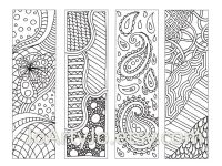 Zentangle Inspired Bookmarks, Printable Coloring, Digital ...