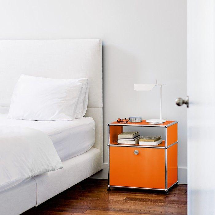 Ein Nachttisch im Design von USM Haller - USM Schlafzimmer - designer nachttische schlafzimmer