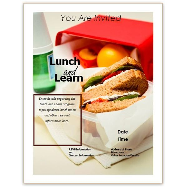 Lunch and Learn Flyer Templates Free Business Lunch and Learn - flyer invitation templates free