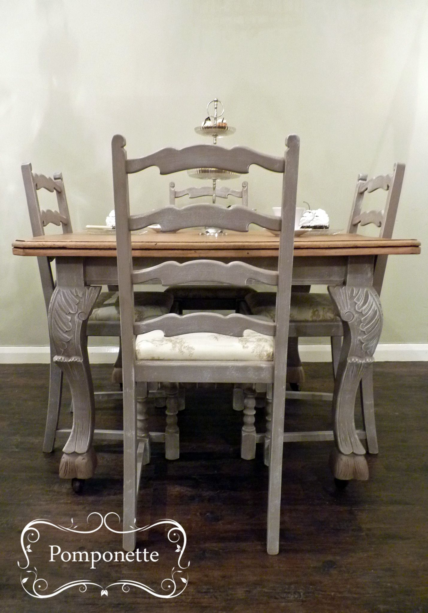 painting kitchen table Bistro dining table 4 chairs Chalk Paint by Annie Sloan stockists trainers