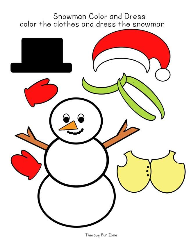 Snow Man Dressing Snow men, Snowman and Therapy - snowman template