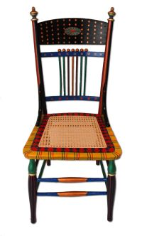 hand painted chairs | Custom Hand-Painted Furniture with a ...